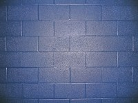 Blue Cinder Blocks | A cinder block wall at my office ...
