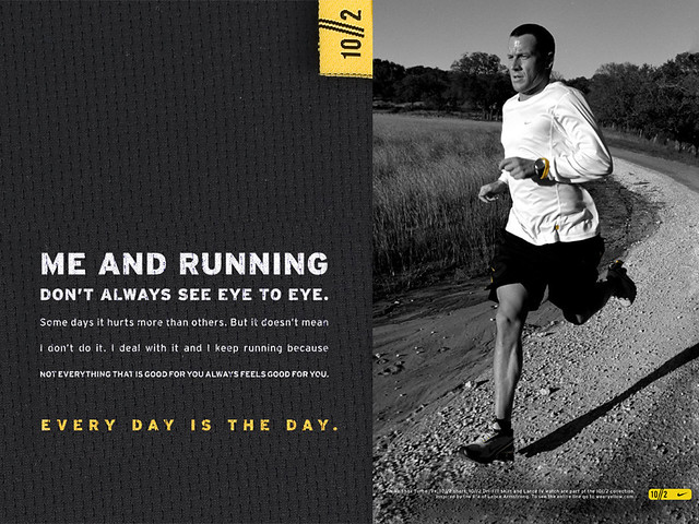 Best English Quotes Wallpaper Me And Running Lance Armstrong Amp Nike Wallpaper From