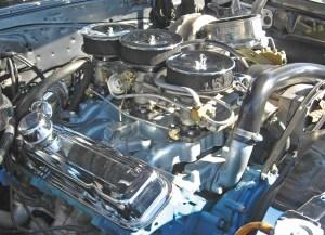 1967 Pontiac GTO Tri Power engine | This car is a '67, but