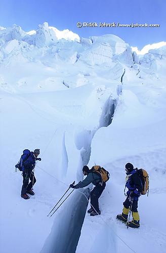 Ice Fall Wallpaper Blind Climber Crosses Crevasses Flickr Photo Sharing