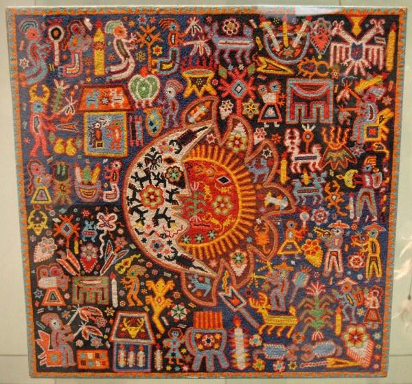 Huichol Bead Painting Work Of Art