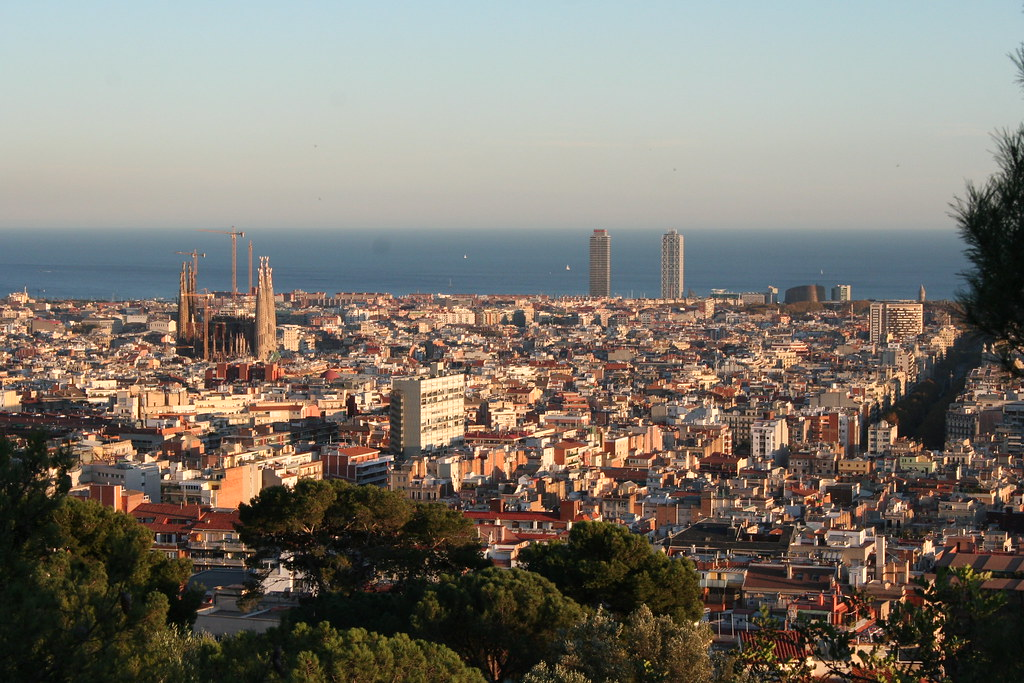 Barcelona Skyline From Parc Guell Als0lily Flickr