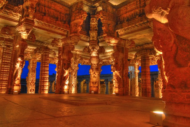 Vittala Temple - Lit up - Hampi