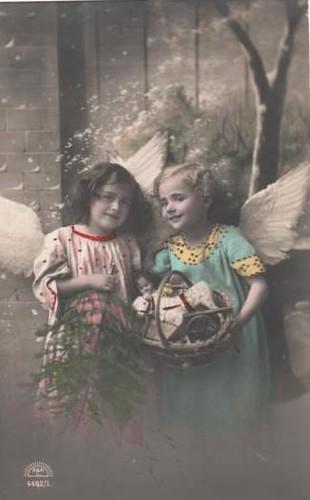Vintage Postcard Christmas Angels Sweet Little Angel