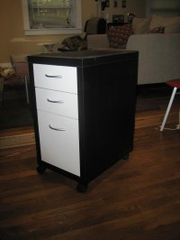 IKEA Filing Cabinet, $25 | On casters. Two small drawers ...