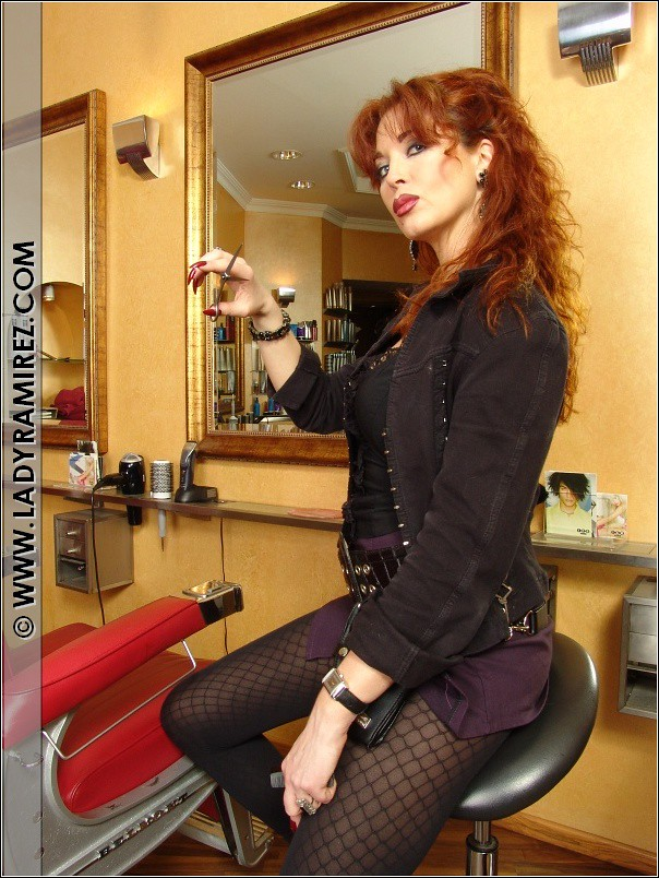 Domina Lady Ramirez in Humiliation at the Hairdresser