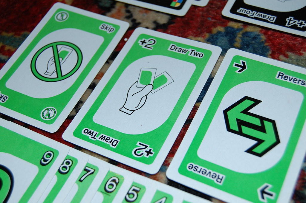 Vintage UNO deck  The green cards Does anybody have any