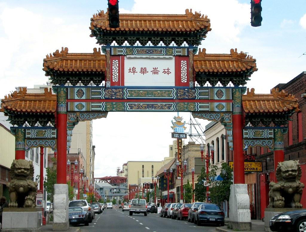 Portland China Gate  From wikipedia The Chinatown