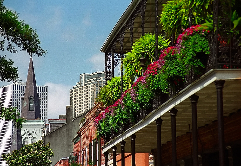 New Orleans  City Skyline  French Quarter Balcony  Flickr
