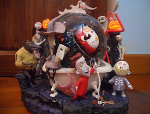 Nightmare Before Christmas Snowglobe Front View