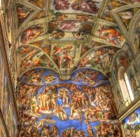 Sistine Chapel Ceiling | A portion of the Sistine Chapel ...