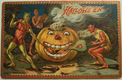 Witches Fall Wallpapers Vintage Halloween Postcard Flickr Photo Sharing
