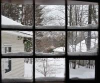 Rule of Thirds Window in my Living Room, Snow on window ...