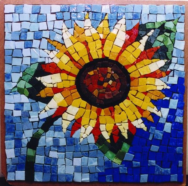 Sunflower Mosaic Put Little Sunshine