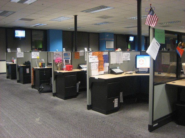 cubicle row 2  Katy Warner  Flickr