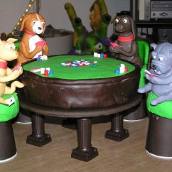 Acrylic Chair Legs Space Saver Dining Table And Chairs Dogs Playing Poker Cake: Full Spread, Side View | Flickr