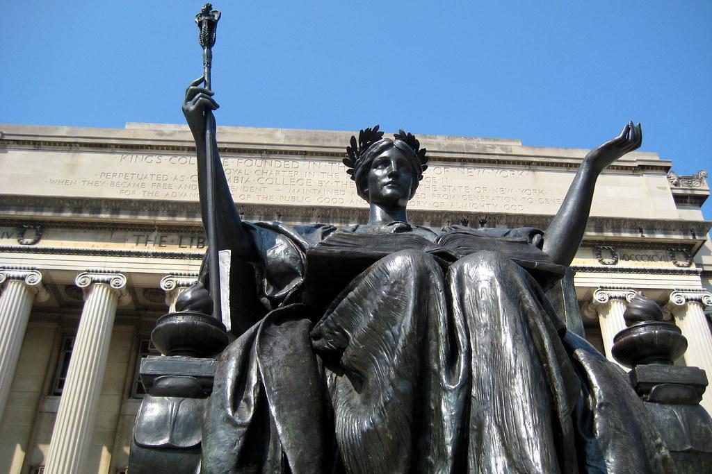 NYC  Columbia University  Alma Mater and Low Memorial Li
