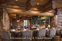 Located in Wyoming | Custom Log Home Kitchen | PrecisionCr ...