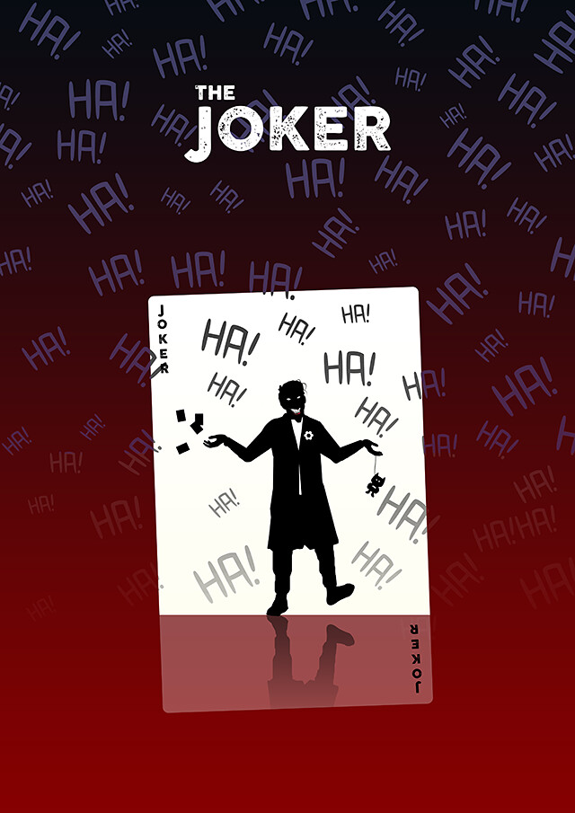 The Joker Silhouette Design