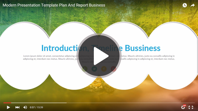 Modern keynote business presentation template for report and plan 1