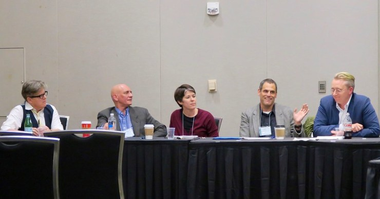 War Lit Panel at the MLA Conference: AB, Patrick, Stacey, Peter, and Roy