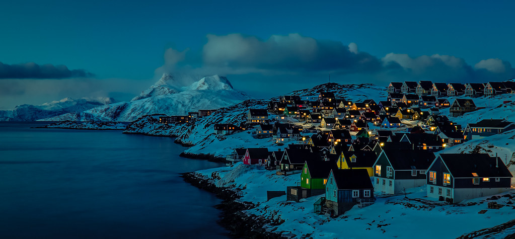 Animated Sunset Wallpaper Nuuk Nights 15 Minutes After Sunset In Mosquito Valley