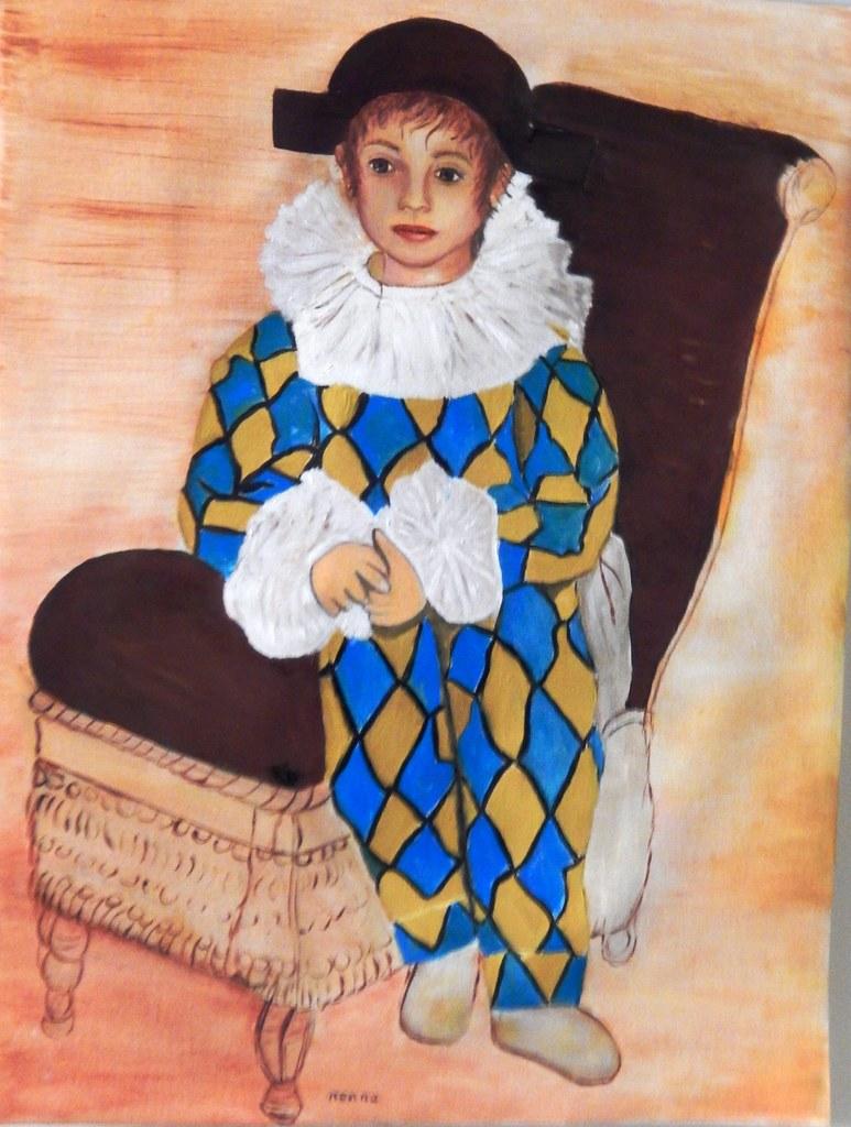 Mia interpretazione di Picasso Pablo vestito da Arlecchin  Flickr