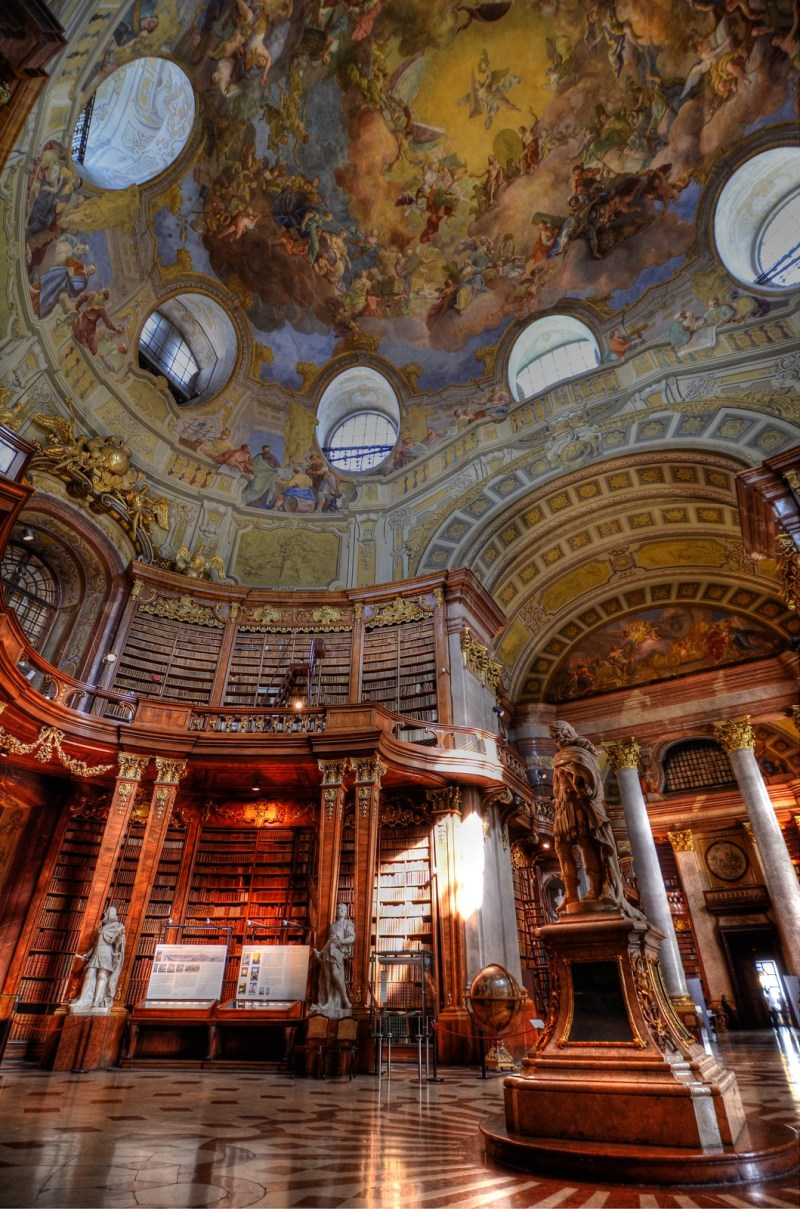 State Hall of the Austrian National Library, Austria. Image credit Richard Hopkins.
