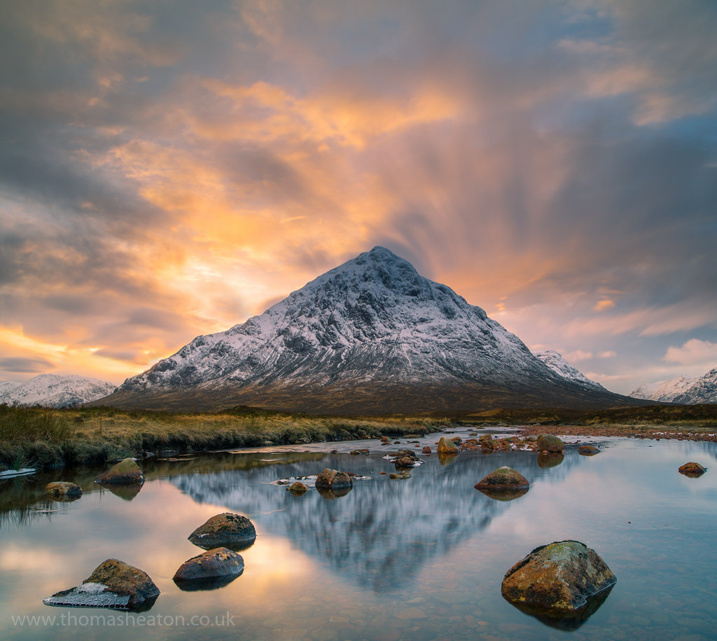 Buachaille Etive Mr  Sunset  Waiting in the middle of a