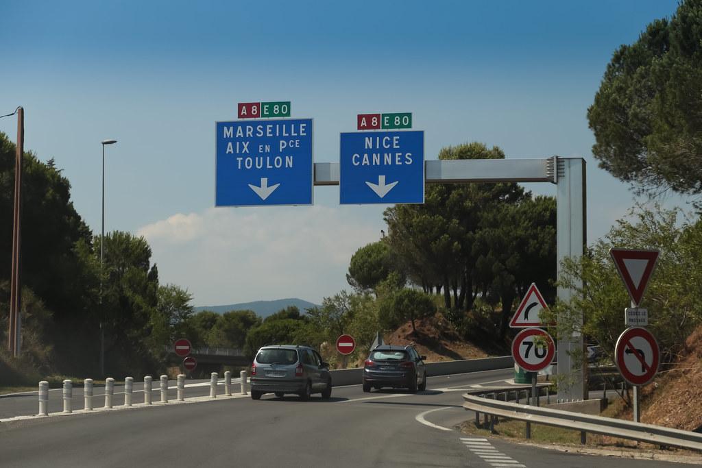 Autoroute A8  PugetsurArgens France  Autoroute A8