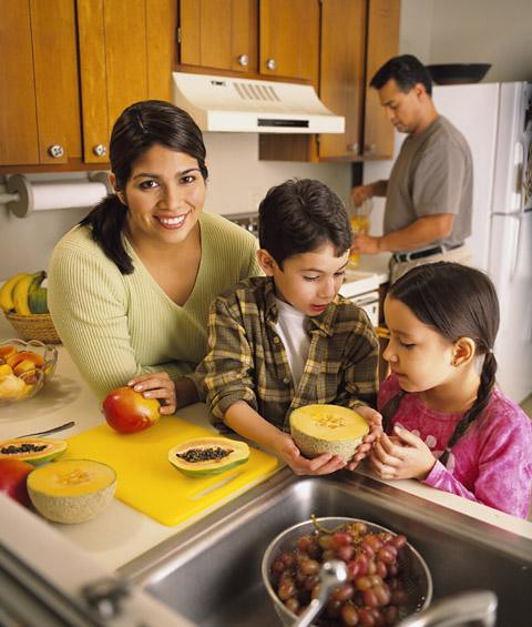 A family making food  US Department of Agricultures