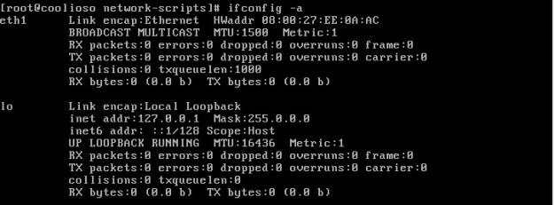 IFCONFIG -a를 통해서 네트워크 상태확인