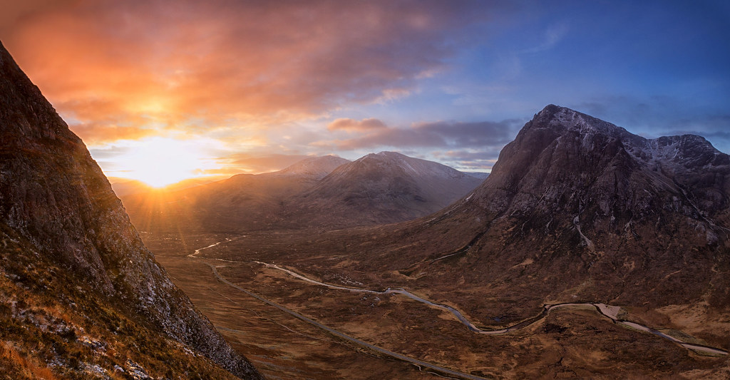 White Wallpaper Hd Highland Sunrise Sunrise Over Rannoch Moor In The West