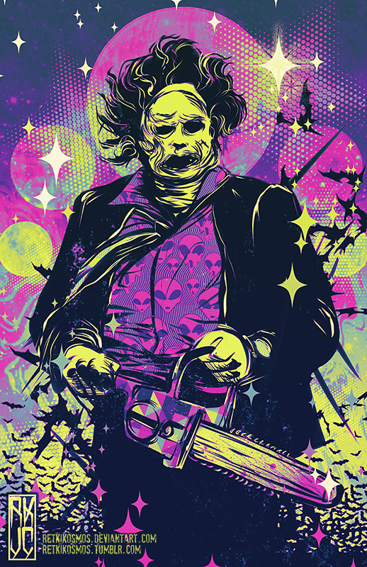 Texas Chainsaw Massacre Wallpaper Hd Neon Horror By Retkikosmos Killer Kitsch