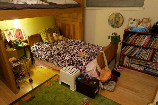 Anais's room, after she spent a long time cleaning and organizing
