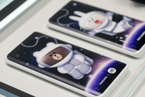 Line es un popular servicio de mensajería instantánea, acá lo vemos en los Galaxy S7 y S7 Edge.