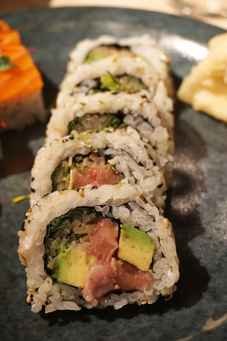 Fatty tuna and avocado sushi from Sake no Hana in Mayair, London | eating gluten free in London