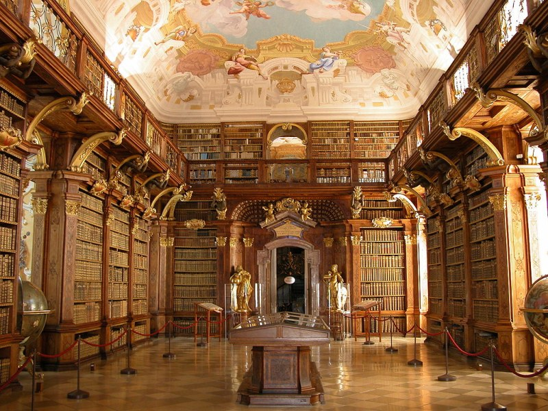 Melk Benedictine Abbey Library, Austria.