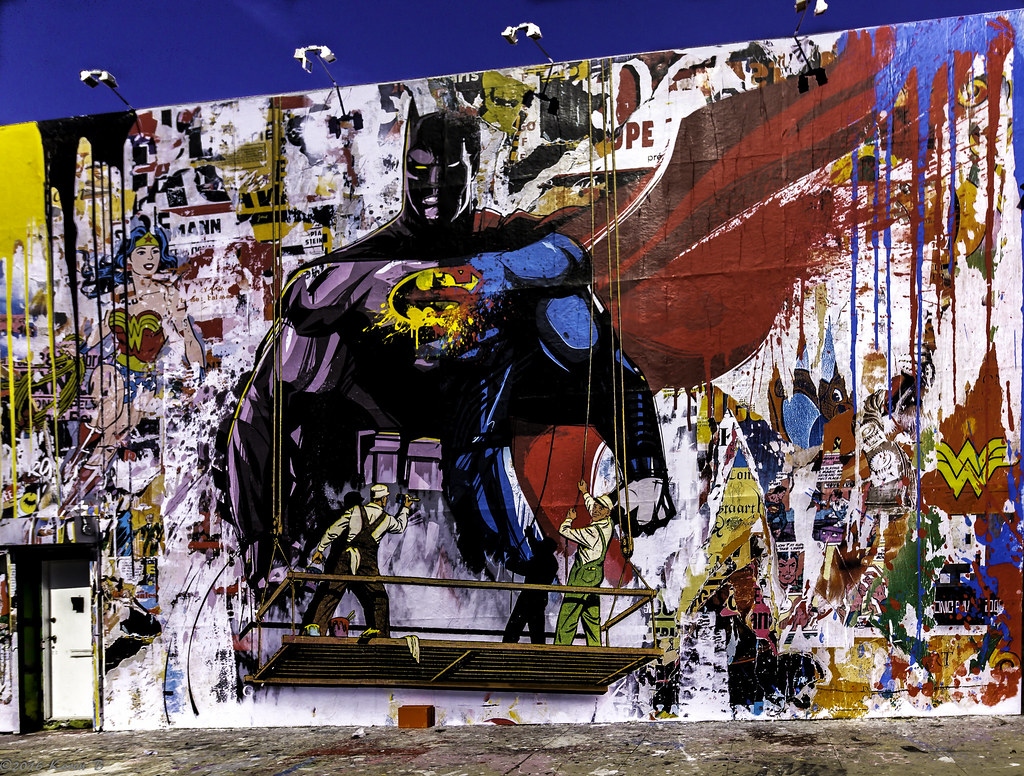 41 116 Street Art Batman V Superman By Mr Brainwash Flickr