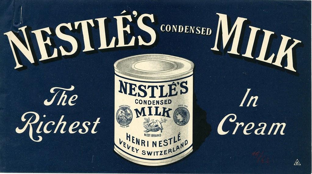 Nestls Condensed Milk Ad Ca 1900 Please Credit