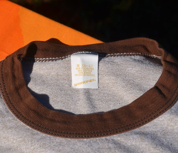 Vintage Jolly Rancher 70s Heathered Brown Ringer T-shirt