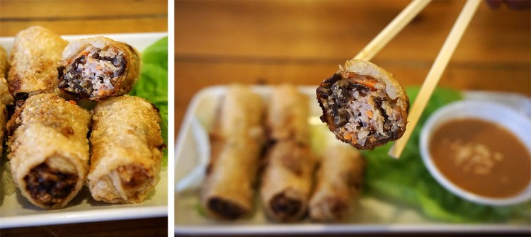 Fried crispy pork spring rolls from Pho