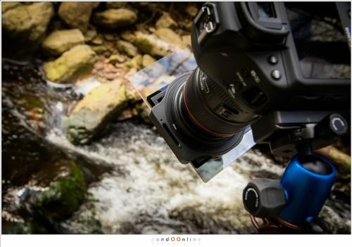 Fotograferen met een 10 stop grijsfilter en een 2 stop grijsverloopfilter. Zoals je ziet hoeft het verloop niet van boven naar beneden te lopen. Hier wordt het filter ondersteboven gebruikt.