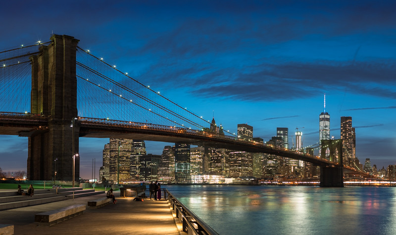 Brooklyn Bridge and the World Trade Center Blue Hour 331  Flickr