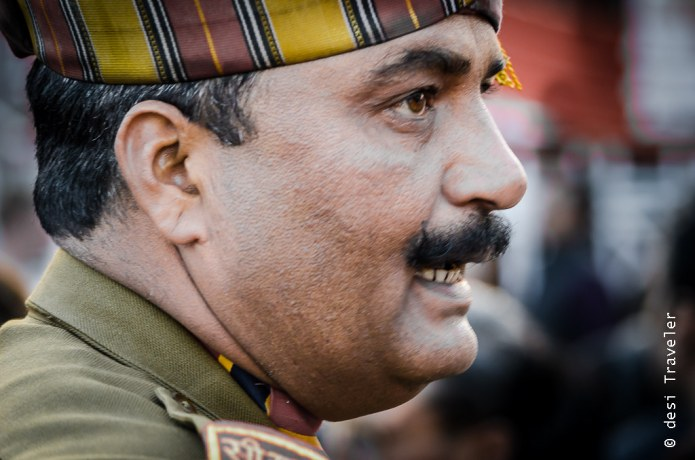 Wagah Border Ceremony Indian BSF officer