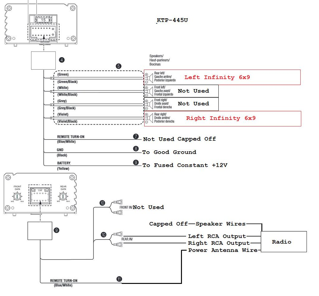 alpine ktp 445 wiring diagram 2 ford focus cd player amplfier hook up question chevelle tech