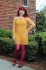 Yellow Dress with Tights Outfits