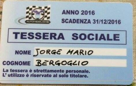 La tessera di Papa Bergoglio