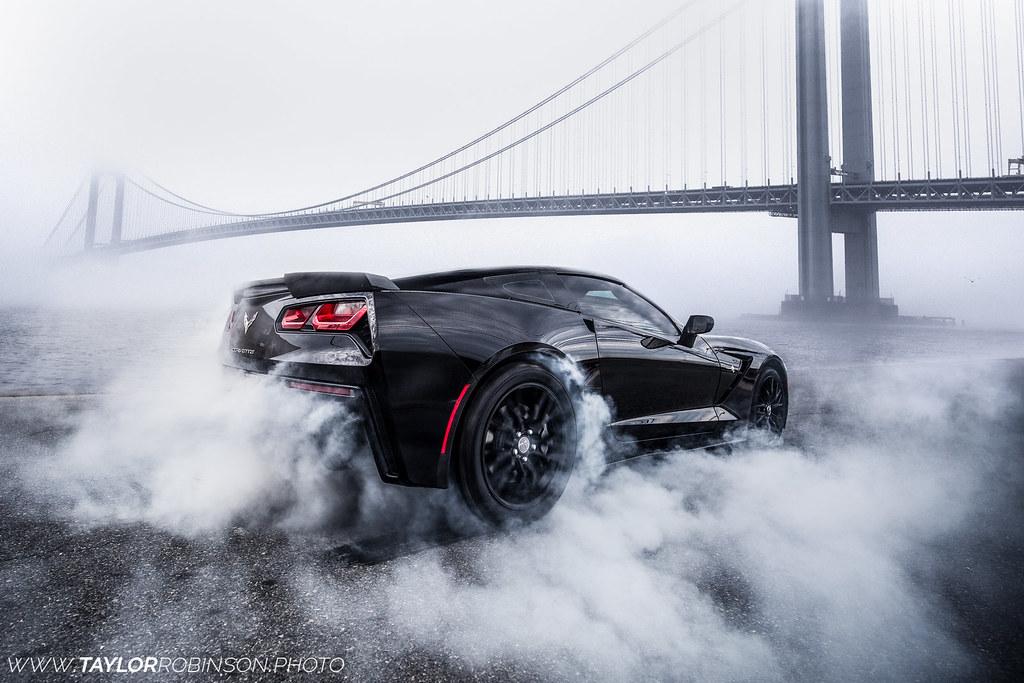 C7 Corvette Burnout  Instagram @tcroooks  Taylor