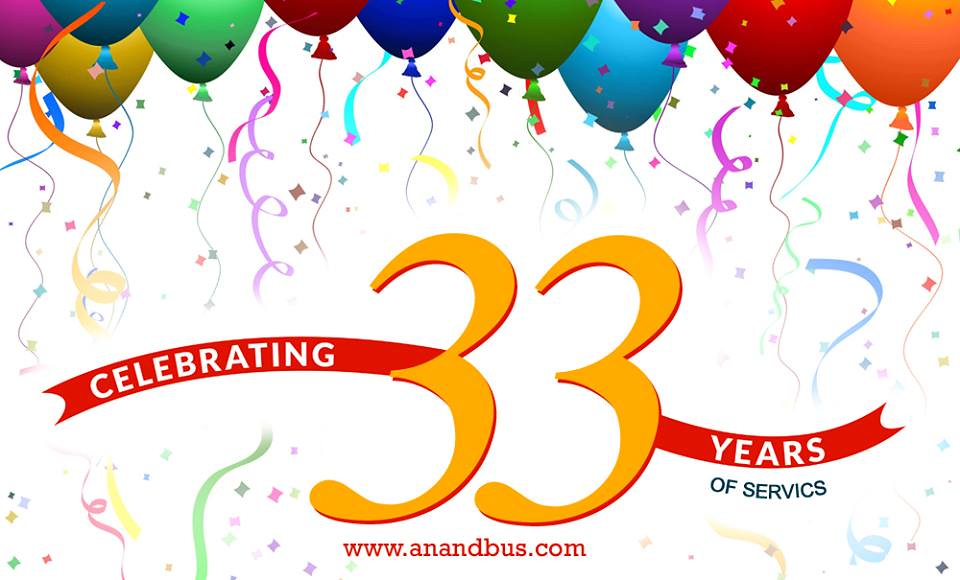 Celebrating 33 Years Of Services